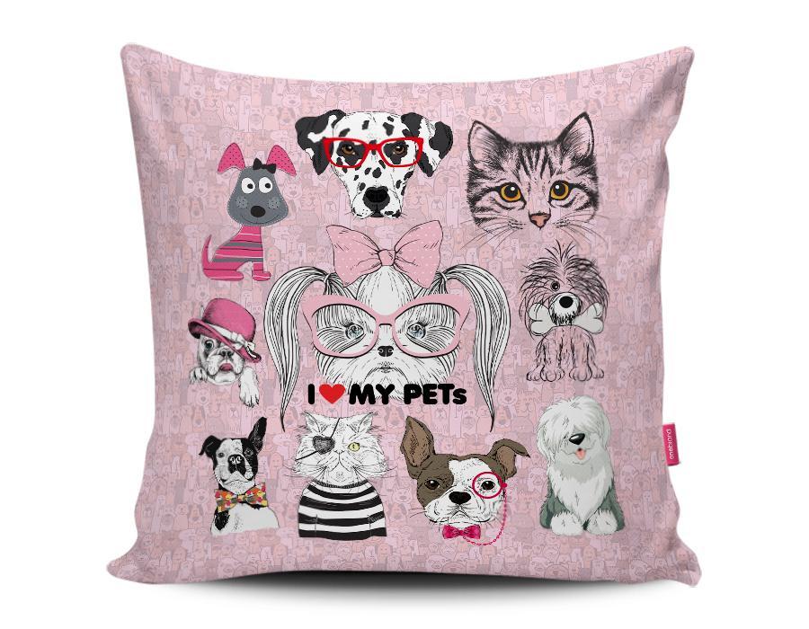 Almofada eu amo os pets