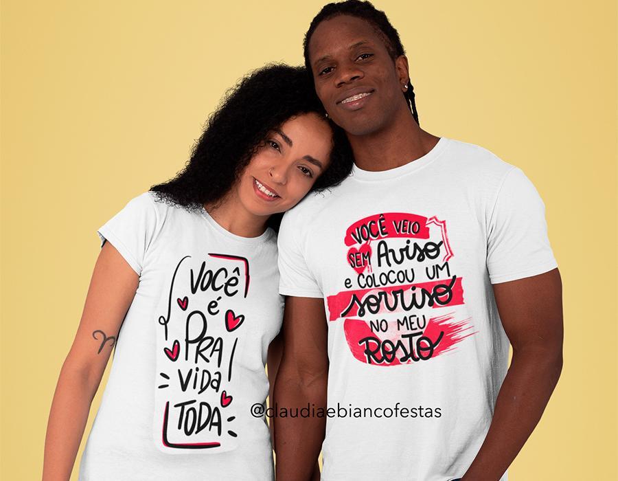 kit camiseta dia dos namorados - amor para vida toda...