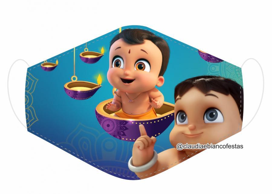 MÁSCARA EM TECIDO INFANTIL (BHEEM) MOD1142