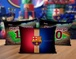 Almofada barcelona Tecido 100% Poliéster (microfibra) 30x20cm Personalizado Frente e Verso Sublimação
