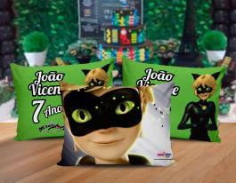 Almofada cat noir Tecido 100% Poliéster (microfibra) 30x20cm Personalizado Frente e Verso Sublimação
