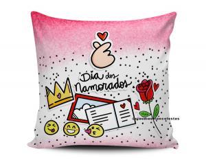 almofada dia dos namorados - feliz dia dos namorados Tecido 100% Poliéster (microfibra) 33x30cm Personalizado Frente e Verso Sublimação