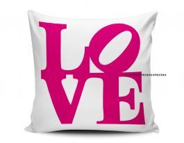 almofada dia dos namorados - love Tecido 100% Poliéster (microfibra) 33x30cm Personalizado Frente e Verso Sublimação