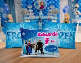Almofada frozen Tecido 100% Poliéster (microfibra) 30x20cm Personalizado Frente e Verso Sublimação