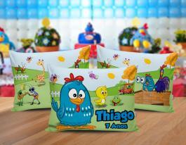 Almofada galinha pintadinha Tecido 100% Poliéster (microfibra) 30x20cm Personalizado Frente e Verso Sublimação