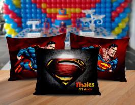Almofada superman Tecido 100% Poliéster (microfibra) 30x20cm Personalizado Frente e Verso Sublimação