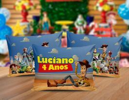 Almofada toy story Tecido 100% Poliéster (microfibra) 30x20cm Personalizado Frente e Verso Sublimação