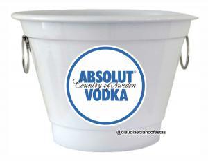 Balde Absolut Vodka Alumínio Pintado 5 ou 8 Litros