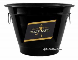 Balde em alumínio black label Alumínio Pintado 5 ou 8 Litros