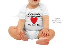 body infantil antes, um sonhos Hoje, seu presente! Amanhã, seu orgulho! Tecido ribana 96% poliéster + 4% elastano Estampa Colorida  Sublimação