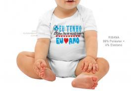 body infantil eu tenho o melhor pai de todo o mundo Tecido ribana 96% poliéster + 4% elastano Estampa Colorida  Sublimação