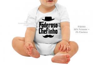 body infantil poderoso chefinho Tecido ribana 96% poliéster + 4% elastano Estampa Colorida  Sublimação