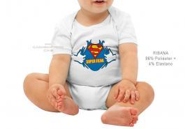 body infantil super filha Tecido ribana 96% poliéster + 4% elastano Estampa Colorida  Sublimação
