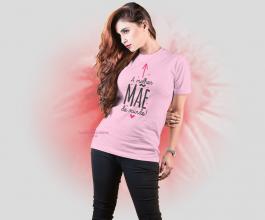 Camiseta a melhor mãe do mundo Tecido Poliéster Estampa Colorida A3  Sublimação