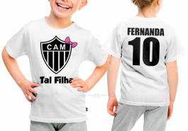 Camiseta torcedor atlético mineiro tal filha Tecido 100% Poliéster Estampa Colorida A3  Sublimação