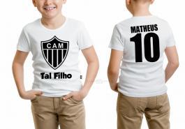 Camiseta torcedor atlético mineiro tal filho Tecido 100% Poliéster Estampa Colorida A3  Sublimação