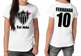 Camiseta torcedor atlético mineiro tal mãe Tecido 100% Poliéster Estampa Colorida A3  Sublimação