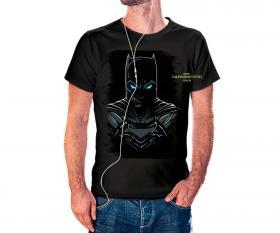 CAMISETA BATMAN Tecido 100% Poliéster Estampa Colorida A3  Sublimação Camiseta na cor preta