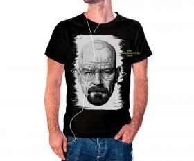 CAMISETA BRAKING BAD 2 Tecido 100% Poliéster Estampa Colorida A3  Sublimação Camiseta na cor preta