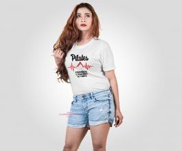 CAMISETA CONSCIÊNCIA E EQUILIBRIO DO CORPO Tecido 100% Poliéster Estampa Colorida A3  Sublimação Camiseta na cor branca