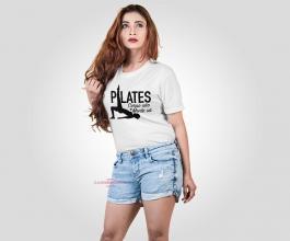 CAMISETA CORPO SÃO E MENTE SÃ Tecido 100% Poliéster Branca Estampa Colorida A3  Sublimação Camiseta na cor branca