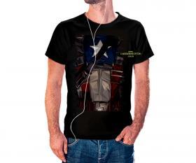 CAMISETA CAPITÃO AMAERICA Tecido 100% Poliéster Estampa Colorida A3  Sublimação Camiseta na cor preta