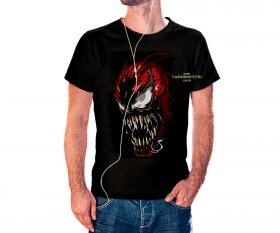 CAMISETA CARNIFICINA Tecido 100% Poliéster Estampa Colorida A3  Sublimação Camiseta na cor preta