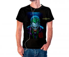 CAMISETA CORINGA Tecido 100% Poliéster Estampa Colorida A3  Sublimação Camiseta na cor preta