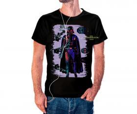 CAMISETA DARTH VADER 2 Tecido 100% Poliéster Estampa Colorida A3  Sublimação Camiseta na cor preta