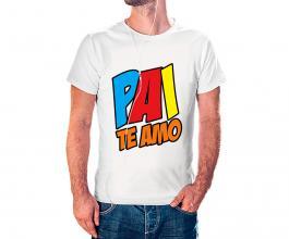 Camiseta dia dos pais mod01 Tecido 100% Poliéster Estampa Colorida A3  Sublimação
