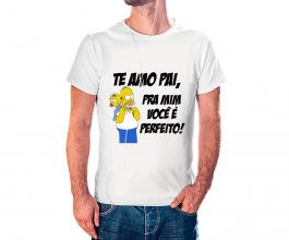 Camiseta dia dos pais mod02 Tecido 100% Poliéster Estampa Colorida A3  Sublimação