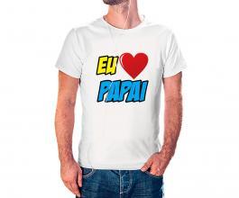 Camiseta dia dos pais mod07 Tecido 100% Poliéster Estampa Colorida A3  Sublimação