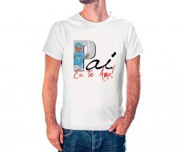 Camiseta dia dos pais mod08 Tecido 100% Poliéster Estampa Colorida A3  Sublimação