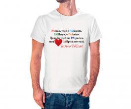 Camiseta dia dos pais mod12 Tecido 100% Poliéster Estampa Colorida A3  Sublimação