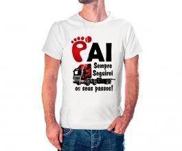 Camiseta dia dos pais mod17 Tecido 100% Poliéster Estampa Colorida A3  Sublimação
