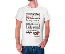 Camiseta dia dos pais mod20 Tecido 100% Poliéster Estampa Colorida A3  Sublimação