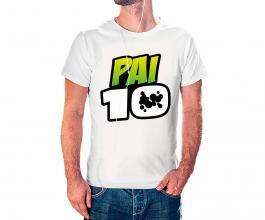 Camiseta dia dos pais mod23 Tecido 100% Poliéster Estampa Colorida A3  Sublimação