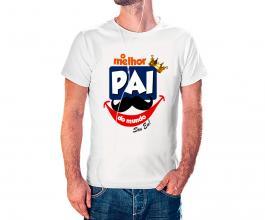 Camiseta dia dos pais mod25 Tecido 100% Poliéster Estampa Colorida A3  Sublimação