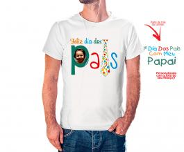 Camiseta dia dos pais mod27 Tecido 100% Poliéster Estampa Colorida A3  Sublimação
