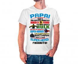 Camiseta dia dos pais mod30 Tecido 100% Poliéster Estampa Colorida A3  Sublimação