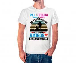 Camiseta dia dos pais mod35 Tecido 100% Poliéster Estampa Colorida A3  Sublimação