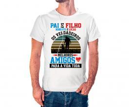 Camiseta dia dos pais mod36 Tecido 100% Poliéster Estampa Colorida A3  Sublimação
