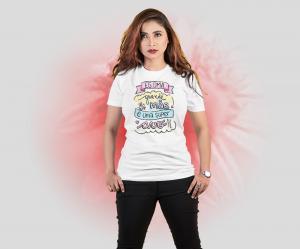 Camiseta és uma grande mãe e se tornou uma super avó Tecido Poliéster Estampa Colorida A3  Sublimação