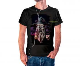 CAMISETA GENDALF Tecido 100% Poliéster Estampa Colorida A3  Sublimação Camiseta na cor preta