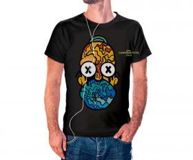 CAMISETA HOME SIMPSON Tecido 100% Poliéster Estampa Colorida A3  Sublimação Camiseta na cor preta