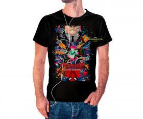 CAMISETA HOMEM ARANHA INVERSE Tecido 100% Poliéster Estampa Colorida A3  Sublimação Camiseta na cor preta