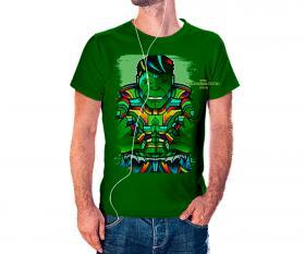 CAMISETA HULK VITRAL Tecido 100% Poliéster Estampa Colorida A3  Sublimação Camiseta na cor verde