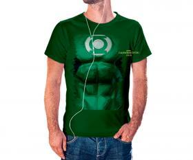 CAMISETA LANTERNA VERDE Tecido 100% Poliéster Estampa Colorida A3  Sublimação Camiseta na cor verde