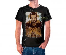CAMISETA MAD MAX Tecido 100% Poliéster Estampa Colorida A3  Sublimação Camiseta na cor preta