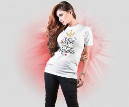 Camiseta mãe um título maior que rainha Tecido Poliéster Estampa Colorida A3  Sublimação